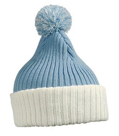 В'язана шапка з помпоном 7540-7