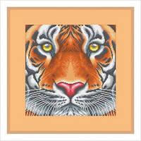 """А3 """"Тигр"""" схема для частичной вышивки бисером"""