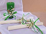"""Набор свадебных свечей """"Семейный очаг"""" Зеленый Zigrivay 3 шт (10004), фото 3"""