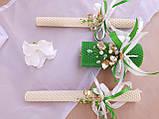 """Набор свадебных свечей """"Семейный очаг"""" Зеленый Zigrivay 3 шт (10004), фото 4"""