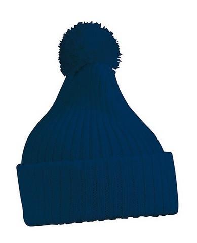 Вязаная шапка с помпоном 7540-8