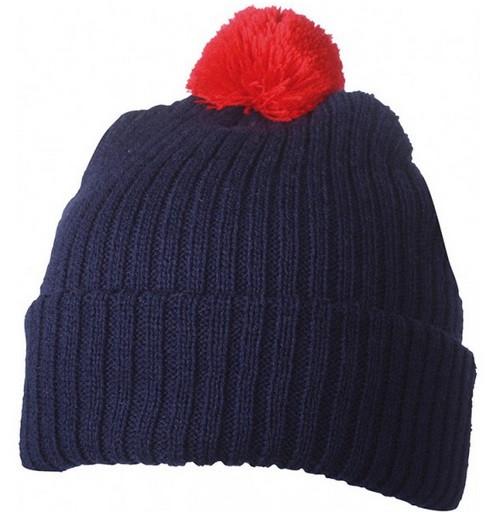 Вязаная шапка с помпоном 7540-9