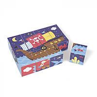 Кубики картонные Janod Пираты (J02984)