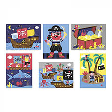 Кубики картонные Janod Пираты (J02984), фото 3