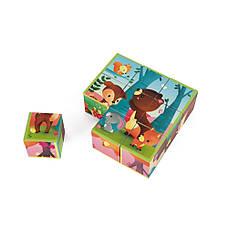 Кубики Janod Лісові тваринки 9 шт. (J02731), фото 2