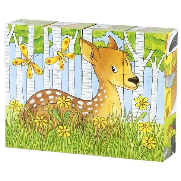 Кубики дерев'яні Goki Тварини в лісі (57710G)