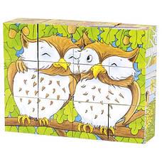 Кубики дерев'яні Goki Тварини в лісі (57710G), фото 2