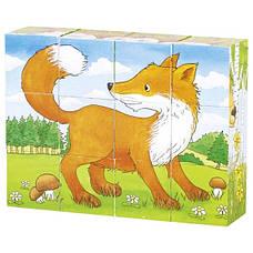 Кубики деревянные Goki Животные в лесу (57710G), фото 3