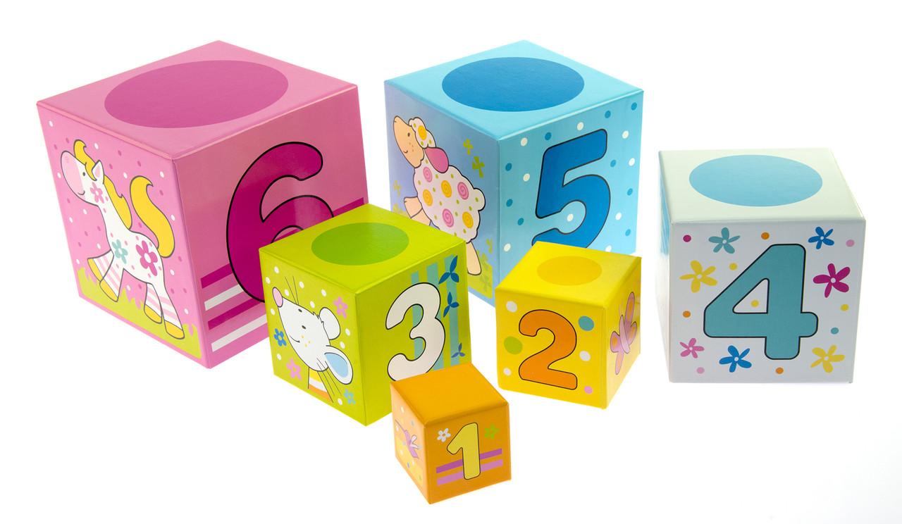 Кубики картонні Goki Вчимося рахувати (58508)