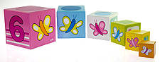 Кубики картонні Goki Вчимося рахувати (58508), фото 3