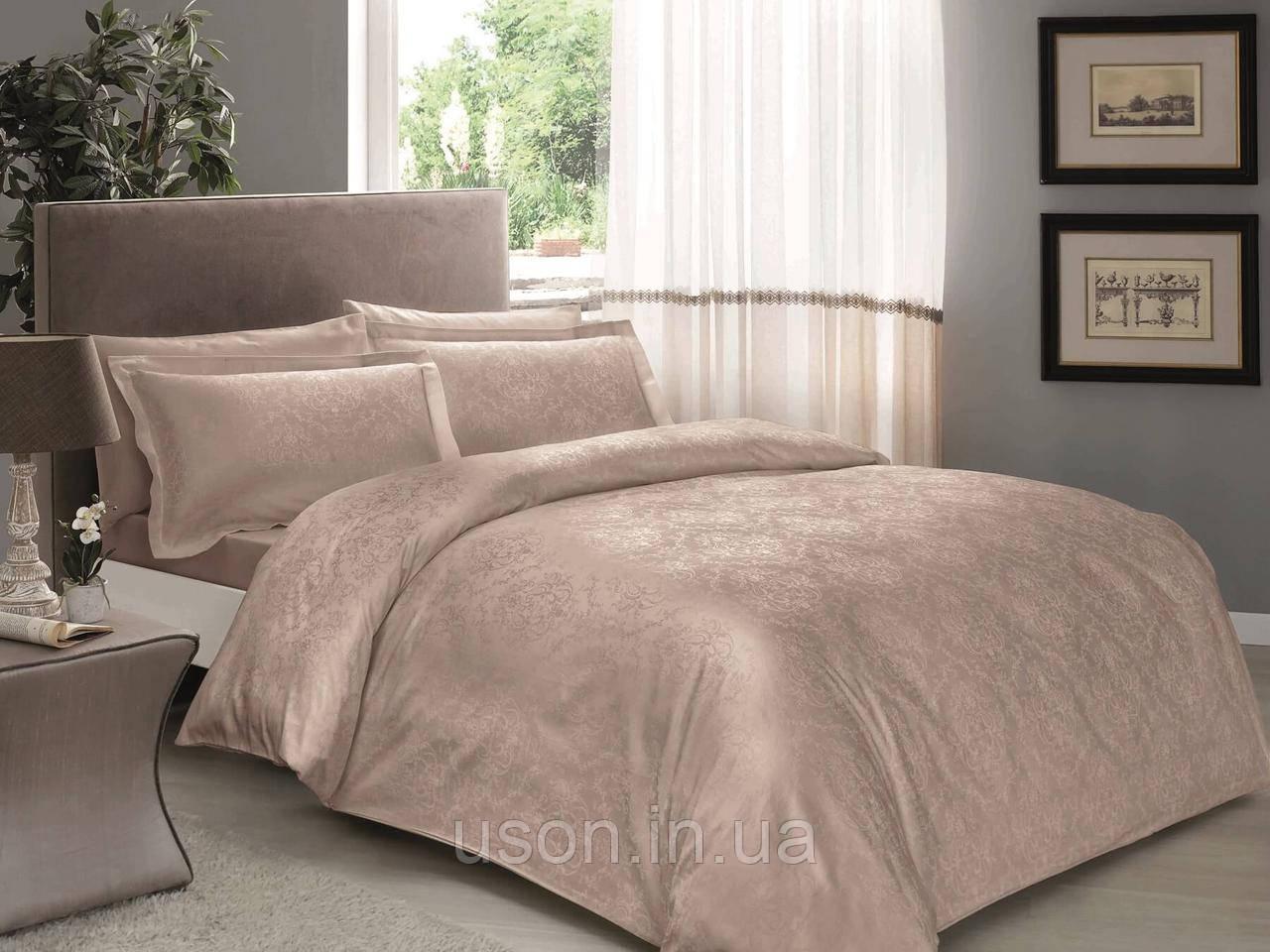 Комплект постельного белья TAC жаккард евро размер  Daria Vizon