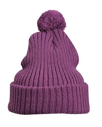 Вязаная шапка с помпоном 7540-11