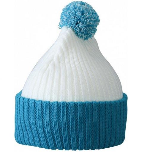 Вязаная шапка с помпоном 7540-12