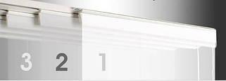 Японские шторы трехрядные