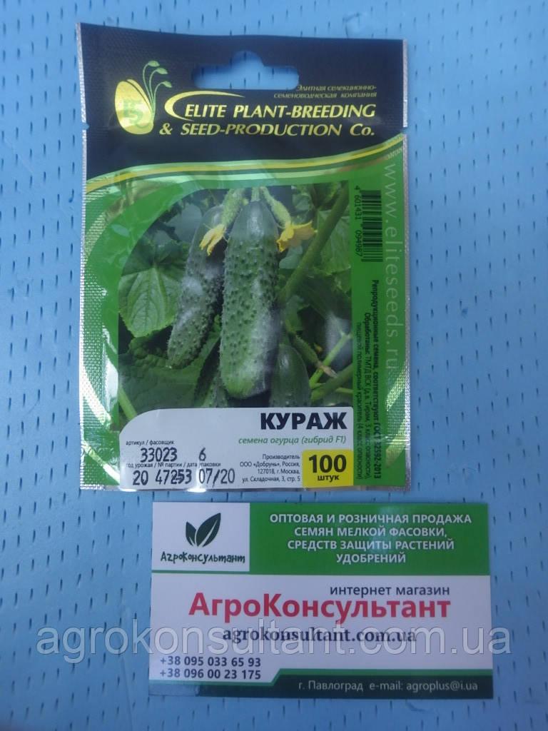 Семена огурца Кураж F1 (Гавриш), 100 семян — партенокарпический корнишон, ранний (38-43 дн.)
