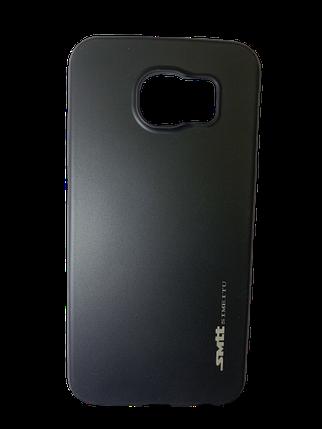 Захисний чохол-накладка smtt Soft Touch на Samsung S6 Чорний, фото 2