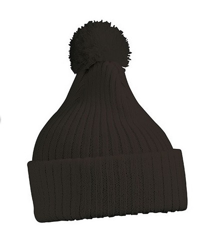 Вязаная шапка с помпоном 7540-14