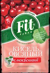 Кисель овсяный быстрорастворимый ФитПарад пакет-саше вкус Клюквенный (50 грамм)