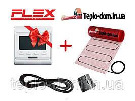 Нагревательный мат для пола в квартире FLEX EHM - 175 /  14м  / 7 м2  / 1225 Вт с програматором In-Therm E-51