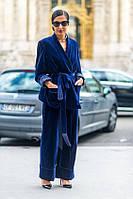 Велюровий спадаючий важкий, оксамитовий костюм жіночий 42-74+батал