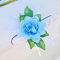 Вау! Стильные Цветы на Ручки авто 4 шт/уп розы, Голубой