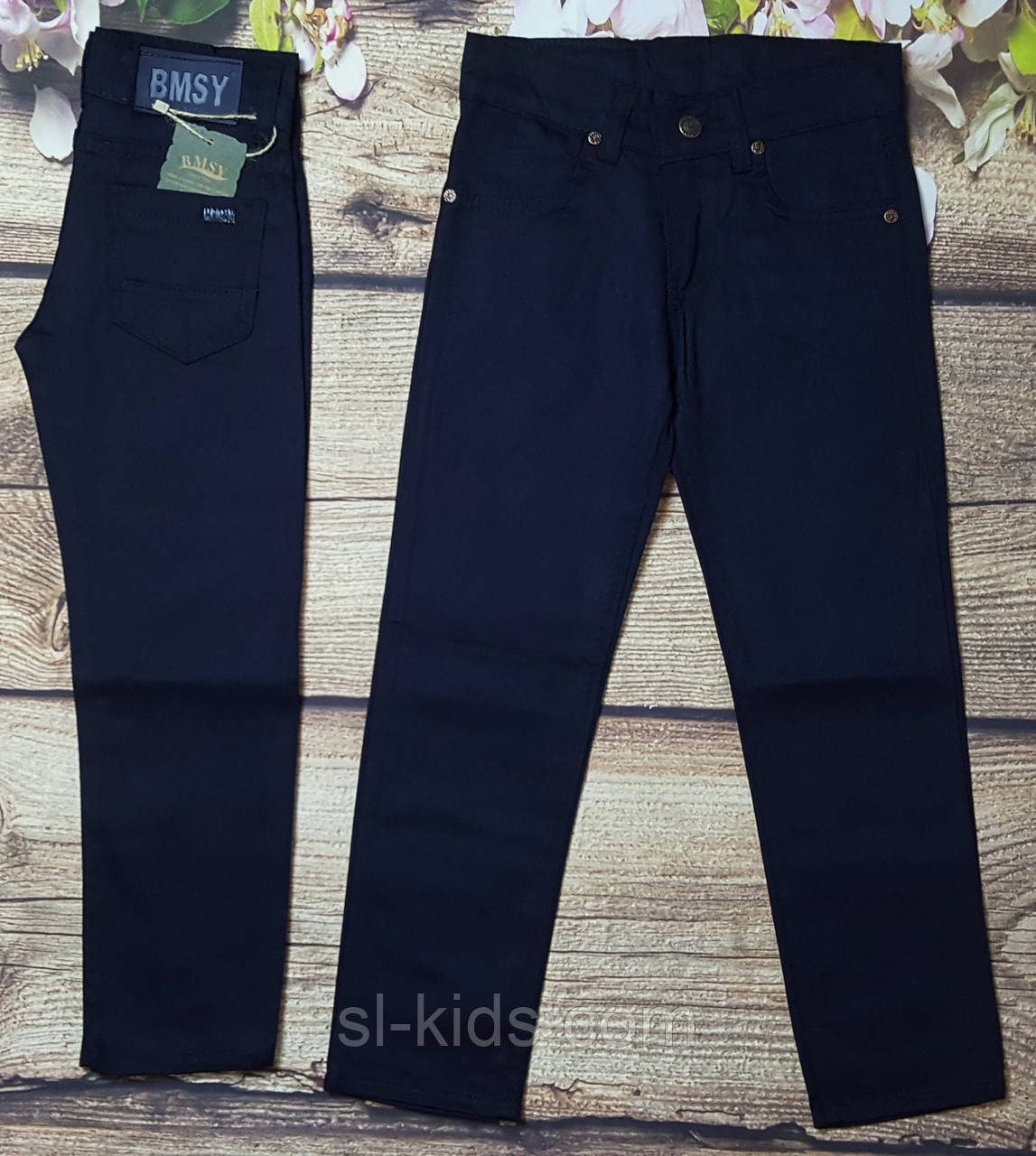 Яркие штаны для мальчика 7-11 лет (черные) опт пр.Турция