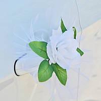 Вау! Цветы на Ручки Свадебной машины 4 шт/уп розы, Белый