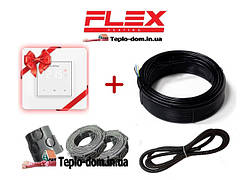 Надежный кабель для обогрева FLEX EHM в комплекте с сенсорным Terneo S