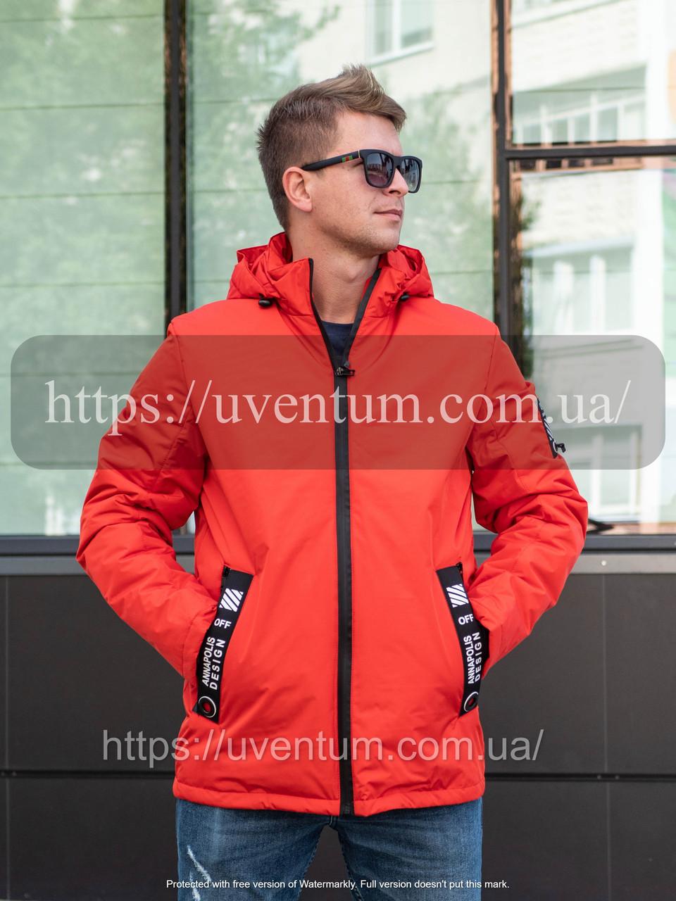 Демисезонная мужская куртка от производителя    48-56 Красный