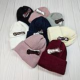 М 94078. Шапка с отворотом женская, подростковая, разние цвета, размер универсальный (10-50 лет), фото 6
