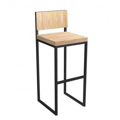 Дизайнерський барний стілець з дерева і металу в стилі LOFT