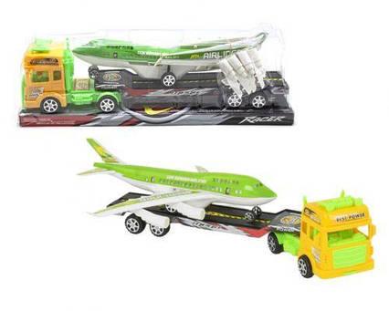 "Грузовик с самолётом ""Truck"", салатовый 662-1"