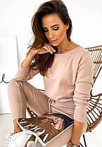 Костюм теплый женский вязаный кофта и штаны в обтяжку, фото 3