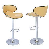 Кресла для салонов красоты и парикмахерских, для визажистов, кресло Салли, высокий, хром, цвет бежевый