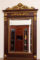 Код М-001.1. Зеркало в деревянной раме с резьбой