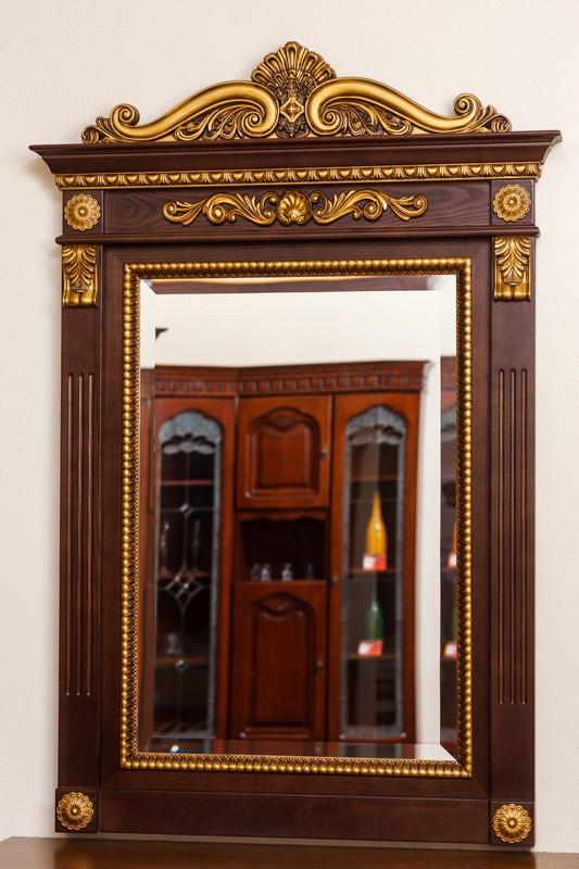 Код М-001.1. Зеркало в деревянной раме с резьбой, фото 1