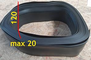 Антивандальный напольный плинтус для промышленных помещений 20 мм х 100 мм Чёрный