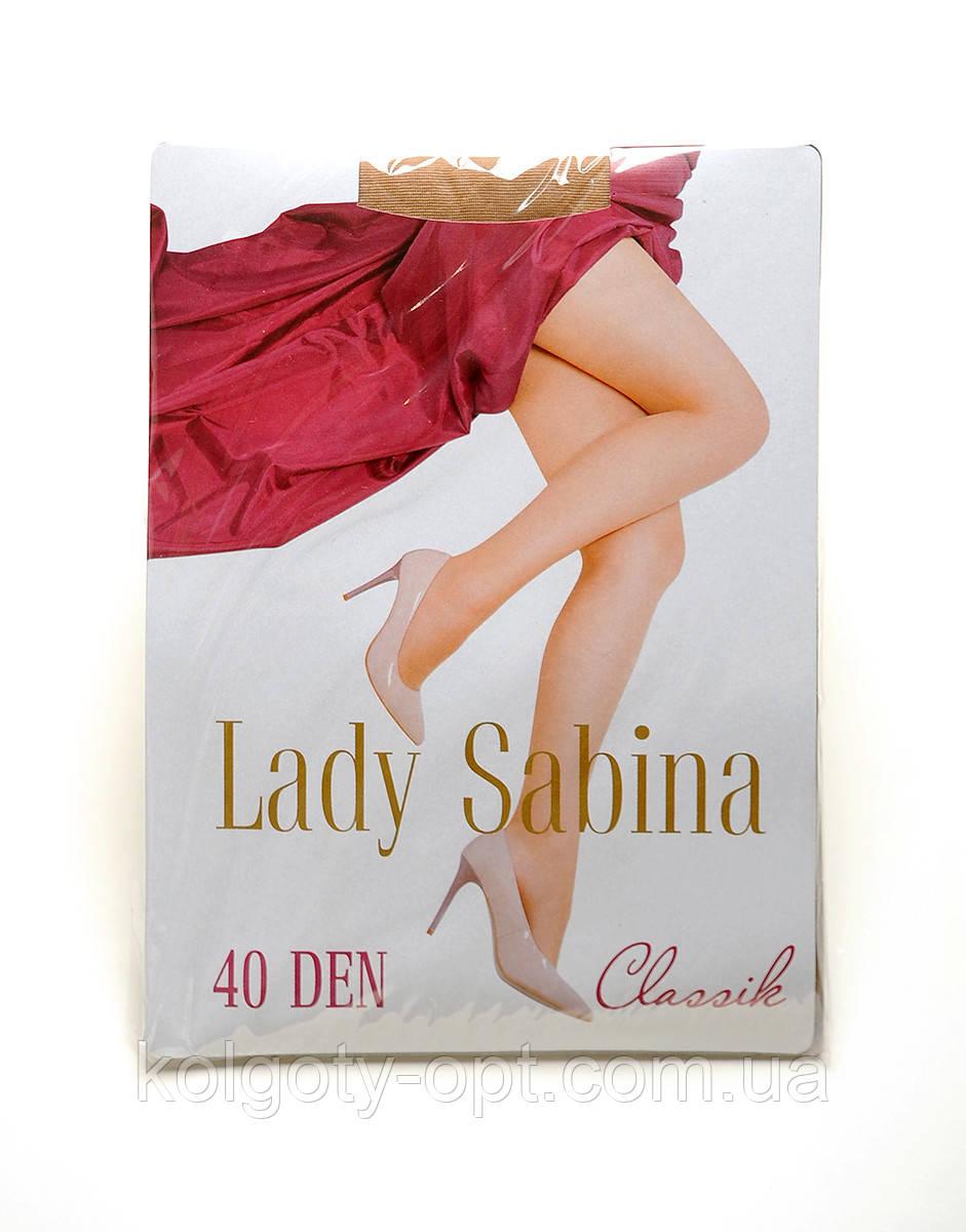 Колготи жіночі капронові 40 ден Lady Sabina з лайкрою колготкі