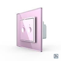 Сенсорный радиоуправляемый выключатель Livolo Sense 2 канала розовый (722100217), фото 1