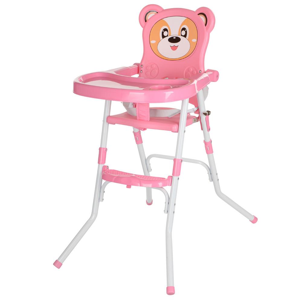 Дитячий складаний стільчик для годування Bambi 113-8 Рожевий
