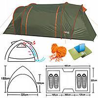 Палатка туристична намет Abarqs GOBI-4B GREEN