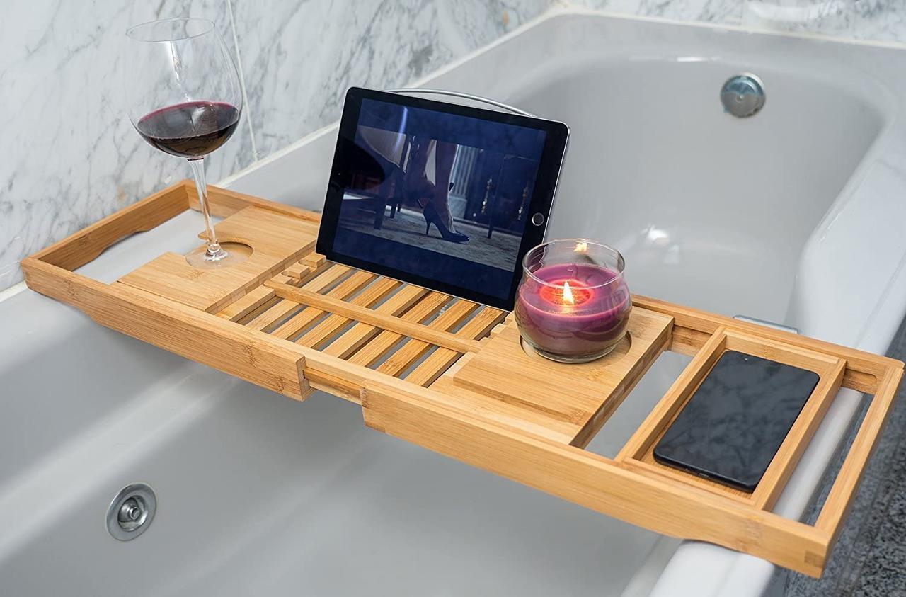 Бамбуковый столик для ванны Utoplike
