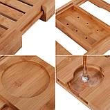 Бамбуковый столик для ванны Utoplike, фото 7