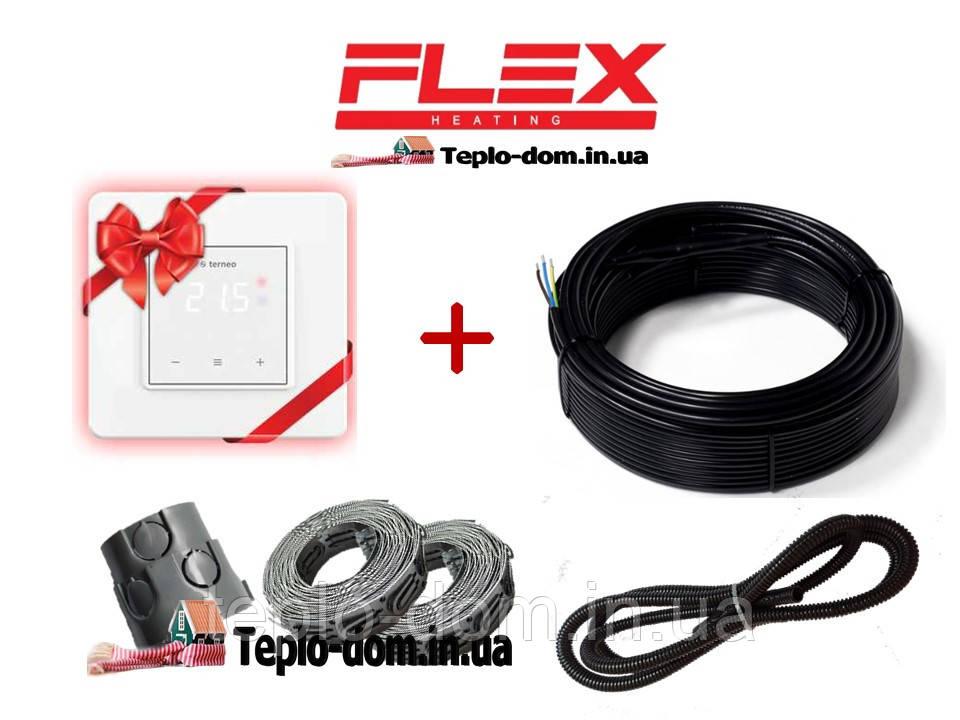 Кабель для обогрева Flex 11м²- 13,2м²/ 1925Вт (110м) c Terneo S