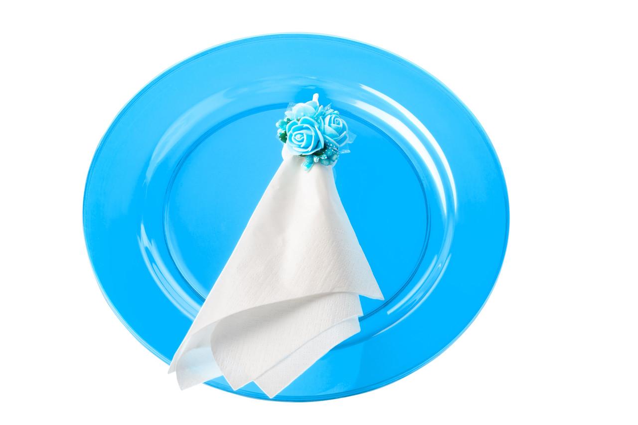 Пластикова посуд тарілка 6 шт 260 щільна синя оптом від виробника для ресторанів, horeca CFP