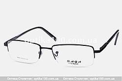 Металлическая черная оправа для очков. Полуободковая с флекс-системой