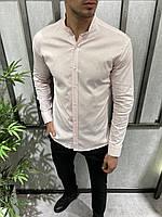Мужская рубашка светло-розовая 19037