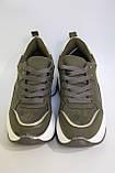 Стильні жіночі кросівки на високій білій підошві в кольорі хакі. Розміри 36-40 Розміри 36-40., фото 4