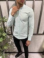 Мужская рубашка светло-голубая 19040