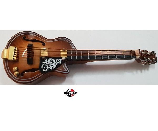 """ALBERTS GIFTS 39228 F-Hole Guitar W / Cut Away 4 """"Сувенир значок с магнитом"""